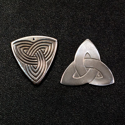 Polished Titanium Guitar Plectrum