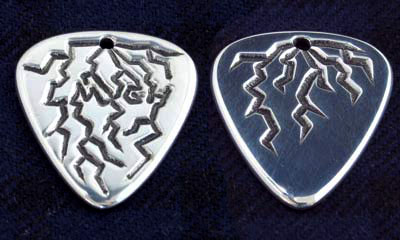 Custom Silver Guitar Pick