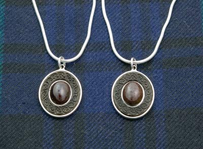 Custom made Sterling Silver and Garnet Pendants