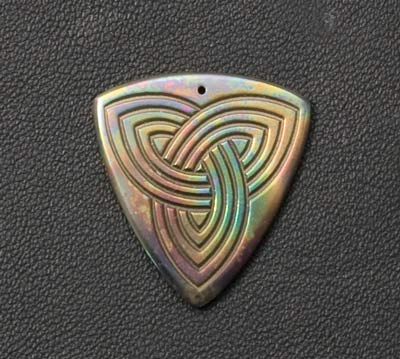 Anodised Titanium Guitar Plectrum